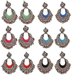 Image Is Loading Jwellmart India Oxidized Silver Afghani Gypsy Bohemian Trendy