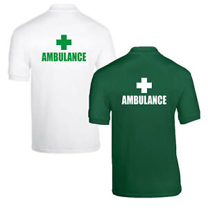 Medic-First-Aid-Paramedic-Doctor-Responder-Nurse-Polo-Shirts-Choice-of-1-or-2