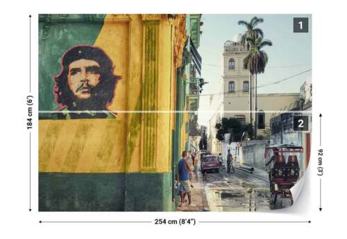 1X-1201268 Che Guevara Graffiti Narrow Street People Photo Wallpaper Wall Mural