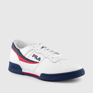 e5971384d575 Image is loading Fila-Original-Fitness-White-Navy-Red-Mens-Sneakers-