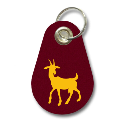 Samunshi Schlüsselanhänger Ziege aus Filz  12 Farben 9,5x6,5cm