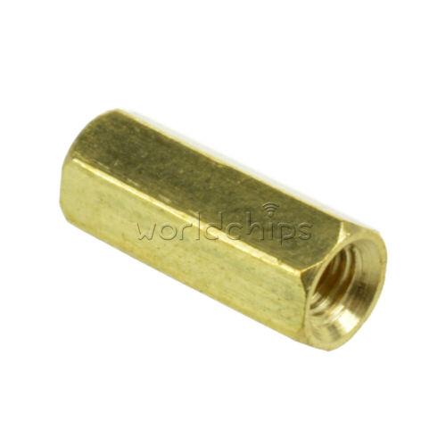 20x Lot Brass Female M3 12mm M3*12 PCB Boards Hex Screw Net Nut Standoff Spacer