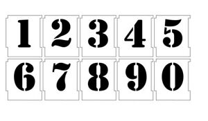 Details about NUMBER STENCILS AIRBRUSH STENCILS NUMBER TEMPLATE 50MM 2''  ARMY FONT 0-9