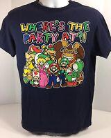 Super Mario Brothers Mens KO Yoshi Luigi Nintendo Gray T-Shirt Size XL