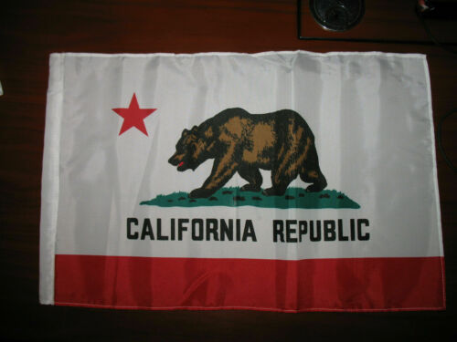 """sleeve 12x18 12/""""x18/"""" State of California SuperPoly Boat Car Flag"""