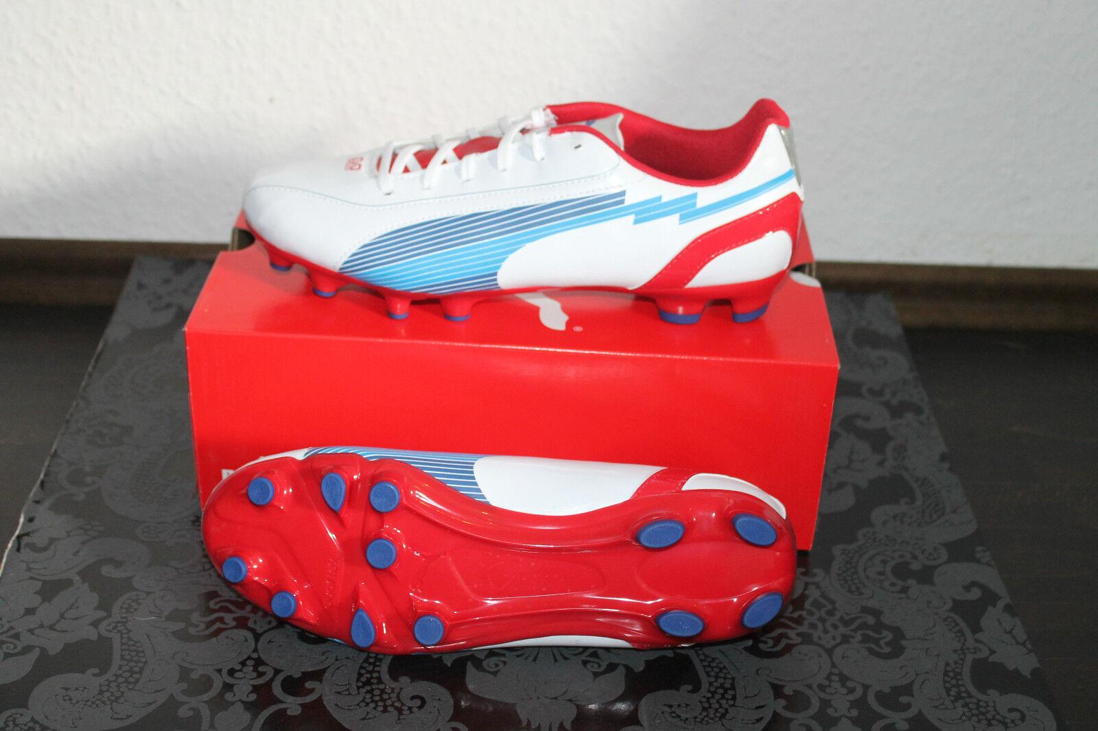 Puma Evo Speed 5 Hombre Fútbol Burl Botín whiteo bluee Todas sizes Nuevo