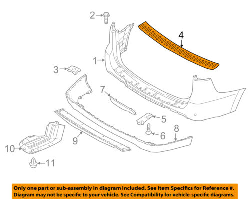 KIA OEM 15-18 Sedona Rear Bumper-Step Cover 86636A9000