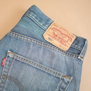 Levi-501-Jeans-blau-Straight-Button-Fly-unisex-Vintage-Patchw-32l32-W-31-L-30