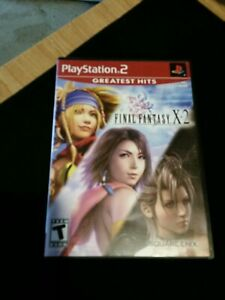 Final Fantasy X-2 (Sony PlayStation 2, 2003) greatest hits edition. Preowned