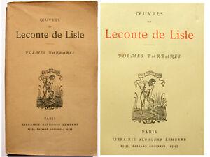 POESIE-LECONTE-DE-LISLE-POEMES-BARBARES-LEMERRE-1935
