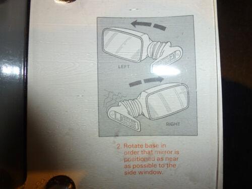 Reemplazo de espejo de puerta de coche universal adapta a conductor o pasajero puerta en cualquier coche