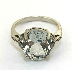 Amethyst /& Brillant RING  Grüner Amethyst  925 Sterling Silber