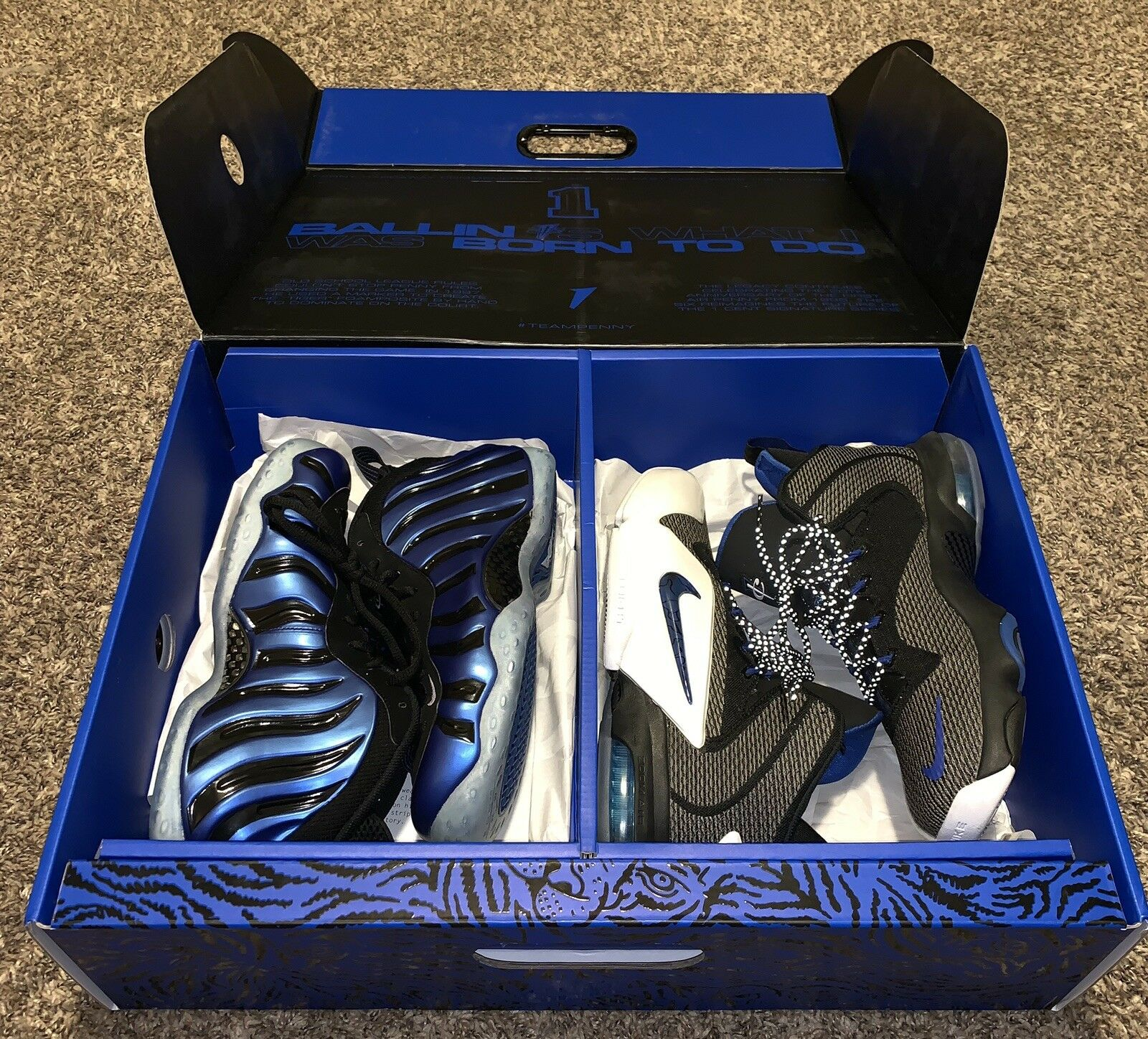 NIKE AIR FOAMPOSITE SHARPIE PENNY PACK QS SZ 8.5 Rare Deadstock