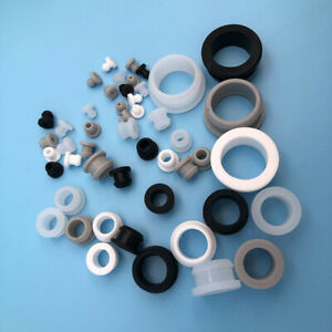 White Snap-on Hole Plugs Silicone Blanking End Caps Pipe Tube Inserts 5.5mm~20mm