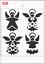 Cute Angel Pattern Stencil MYLAR A4 sheet strong reusable wall art craft deco