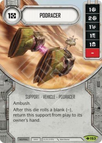 x1 Podracer 153 Rare Star Wars Destiny Way of the Force M//NM