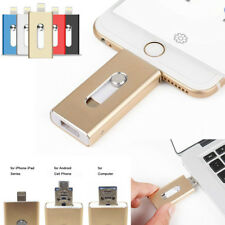 128GB 64GB New OTG Dual USB Memory i Flash Drive U Disk For IOS iPhone iPad/PC