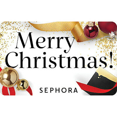 Sephora Gift Card - Merry Christmas - $25 $50 or $100 - Fast Email delivery