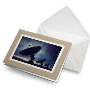 Greetings-Card-Biege-Satellite-Dish-Night-Sky-3642