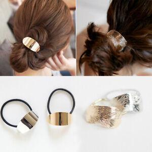Elastic-Hair-Rope-Hair-Ties-Ponytail-Holder-Metallic-Head-Band-Feather-Lady-Girl