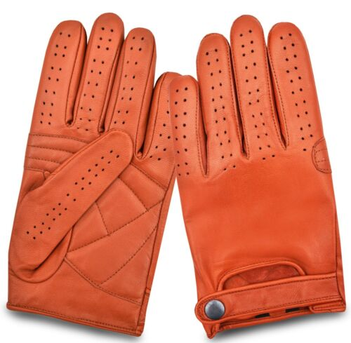Mens Classic Style Real Leather Chauffeur Car Bus Driving Gloves Retro Vintage