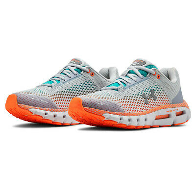 Under Armour Womens HOVR Infinite Running Shoes Trainers Sneakers - Grey Orange