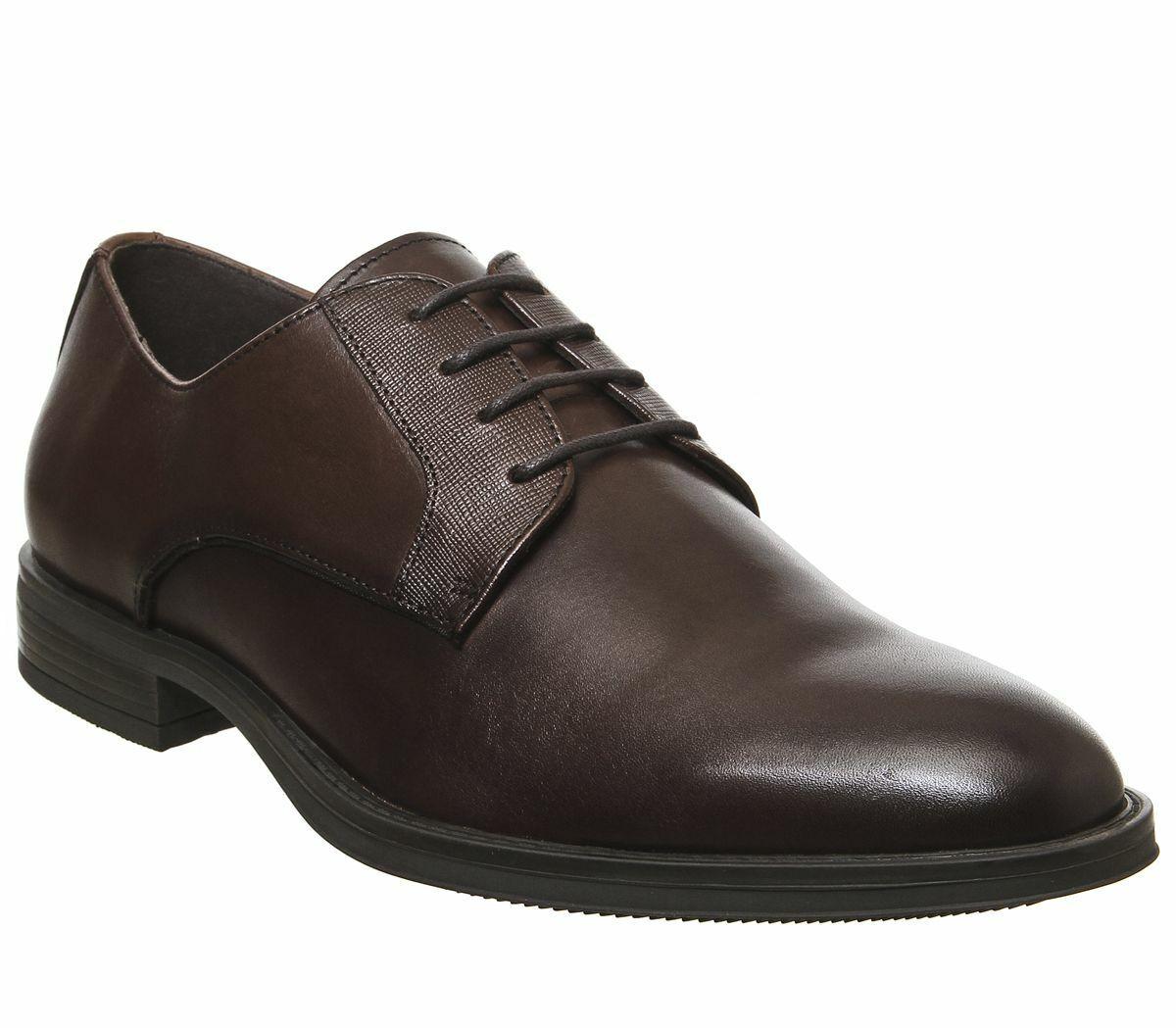 Mens Office Marker Gibson Smart schuhe Choc Leather Formal schuhe