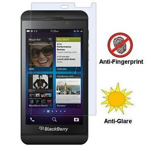BLACKBERRY Z10 ANTI FINGERPRINT ANTI-GLARE SCREEN PROTECTOR LCD COVER FILM GUARD