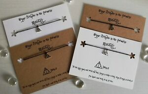 Details About Harry Potter Deathly Hallows Happy Birthday Wish Bracelet Gift Idea