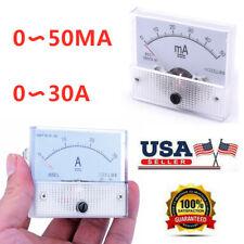 Ammeter Analog Ampmeter Amp Current Panel Gauge Tester Meter Dc 050ma 0 30a