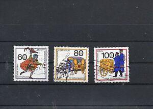 Berlin 1989 - Mi 852 - 854 , Wohlfahrtsmarken, Postbeförderung, gest