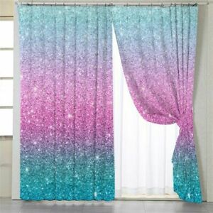 Glitter Window Curtains Bedroom Blackout Woven Cute Patterned Treatments Curtain Ebay