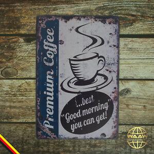 Blechschild  Kaffee Coffee Café Nostalgisches Retro Metallschild 20x30 cm 11