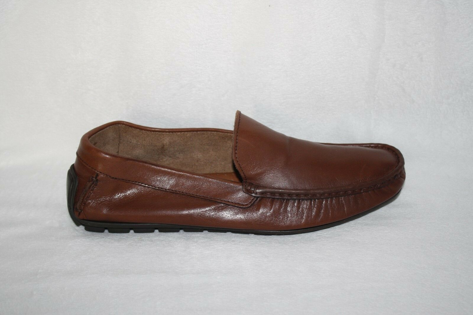 MENS braun LEATHER LOAFERS BY DINO DRAGHI EURO SZ 42 US Größe 10-10.5 (K93)