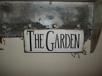The Garden Sign Outdoor Flower Bed Country Rustic Primitive Spring Home Decor