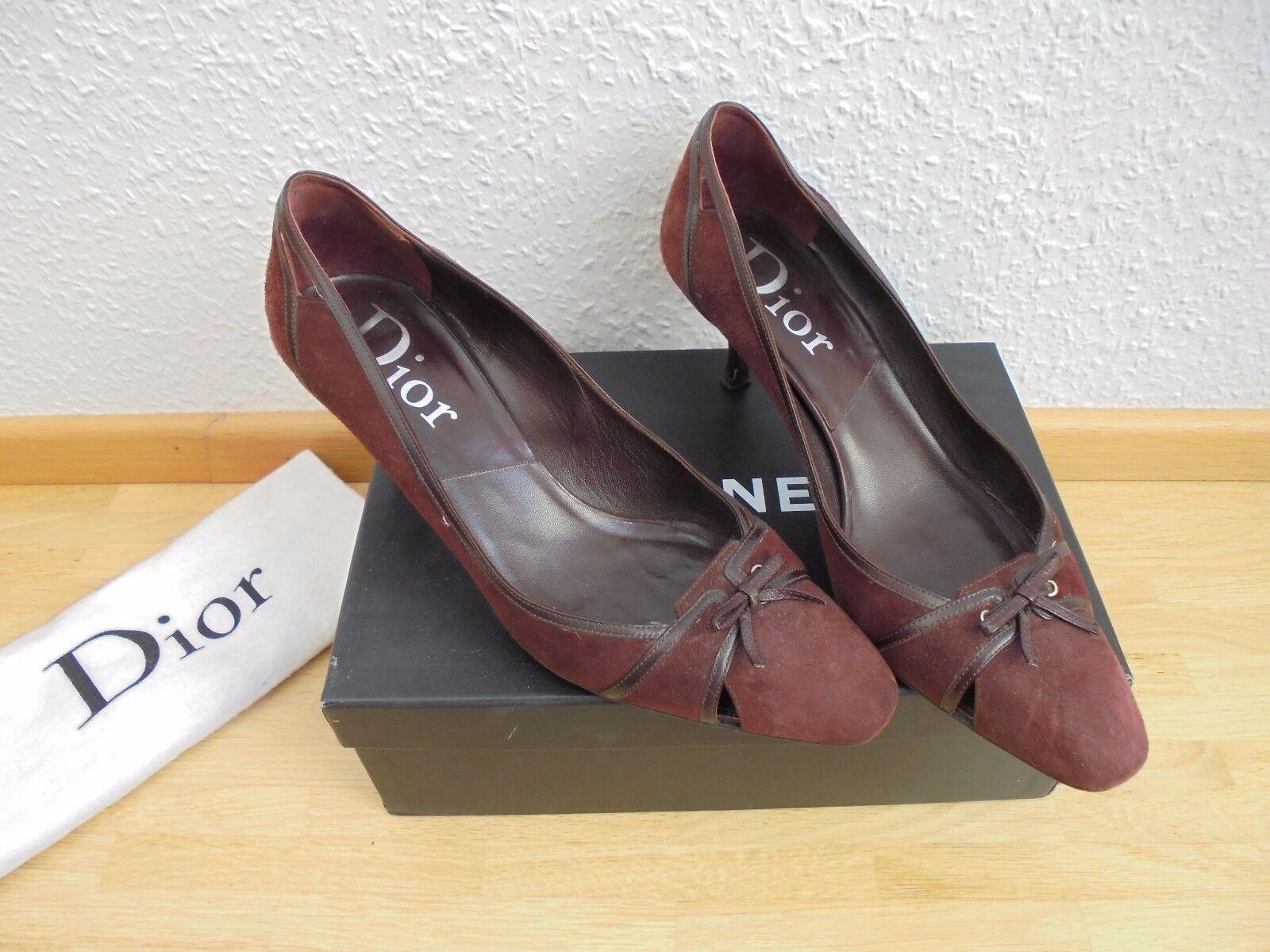 Original Dior Wildleder Pumps NP:  wie NEU Luxus Schuhe High Heels Gr. 40