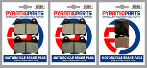 Front & Rear Brake Pads (3 Pairs) for Ducati 750 Monster 00-01