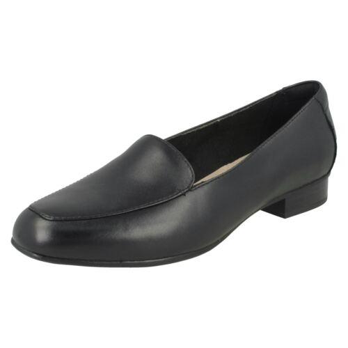 Juliet Cuir Chaussures Marine À Femmes Clarks Rose Ou Enfiler Chair Lora Noir 5qOF8OA