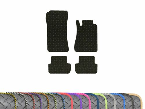 02-09 Tailored Fit Rubber 3mm Car Floor Mats 4pc Colour Trim for Mercedes CLK