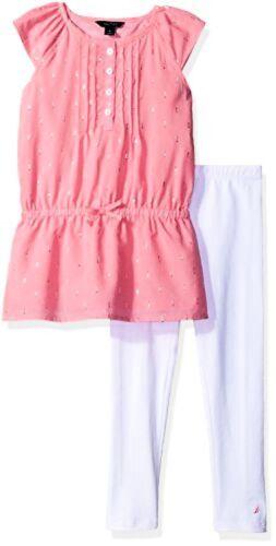 Pick SZ//Color. Nautica Childrens Apparel Toddler Girls Two Piece Legging Sets
