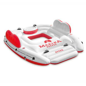 Intex 259cm Marina Breeze Inflatable Island Float Raft Ride On Water River/Pool