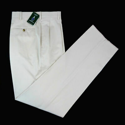 New HOUSE of CARRINGTON Legend Sandshell Flat Front Khaki Pants 38 NWT