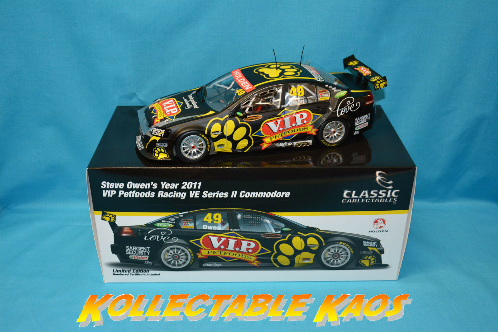 1 18 Classics - 2011 VIP Petfoods Racing VE Commodore - Steve Owen NEW IN BOX