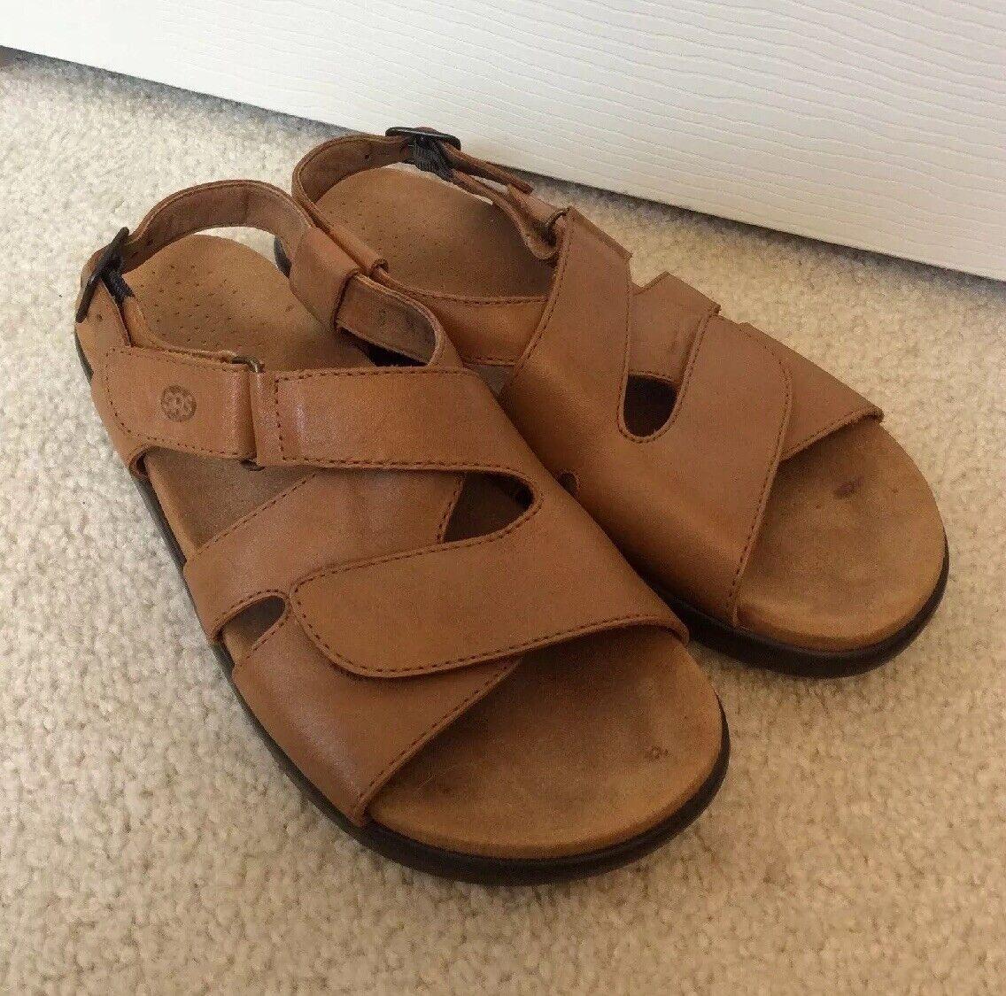 Women's SAS Ovation Leather Sandals Sandals Sandals Light Brown Adjustable Straps Size 8 M c393bb