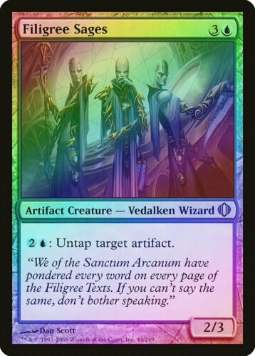 Filigree Sages FOIL Shards of Alara NM Artifact Blue Uncommon CARD ABUGames