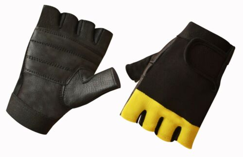 Leather  Men/'s Weight Lifting Training Cycle Wheelchair All Sports Gloves