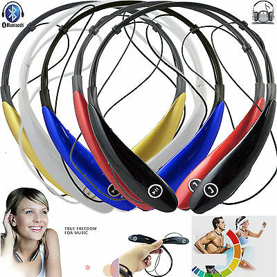 Stereo Bluetooth Headset Neckband Wireless Headphone Handfree For Sport Running