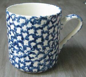 Image Is Loading Ceramic 12 Oz Coffee Mug Cobalt Blue White