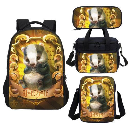 Harry Potter Gryffindor Hufflepuff Houses Backpack Cooler Lunch Bag Pen Case Lot
