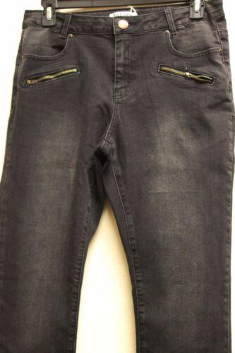 Pocket Zip Sample Women's Black Italy Sale Pants Euro New 10 Denim Deluca F76q1Yw0